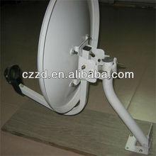 movable antenna KU band 75* 80 cm outdoor satellite TV antenna welding stand