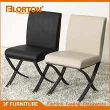 Modern PVC leather painted steel dining chair