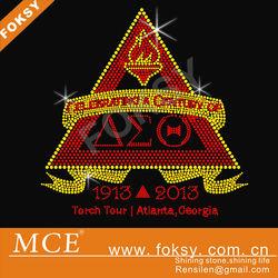 1913 - 2013 torch tour atlanta georgia delta sigma theta hot fix motifs for t-shirt - FOKSY