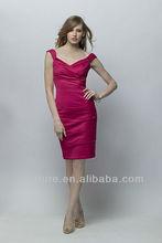 Hot Sale! Sexy V-neck Backless Sheath Satin short mini Bridesmaid Dresses 2013 bd037