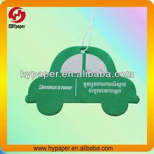 Car shaped hanging paper air freshener for car