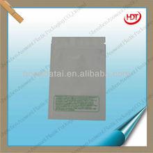 white with green word aluminium plastic bags/popular design zipper polythelene pockets