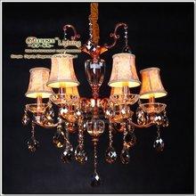 Modern Art Metal Lamps, Hanging Crystal Rose Gold Zine Alloy Chandelier MDS37-L6