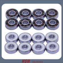 White ball bearing COMPLETIST 608 627 ZrO2 zirconium dioxide hybrid ball skating long board skateboard sk8 skate bearing