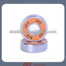 ILQ-9 6 balls 608 627 size steel ball fastest orange rubber seal skate shoes bearing