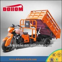 250cc hydraulic three wheeler van cargo tricycle