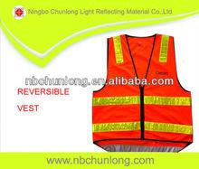 fluorescent orange safety vest road security