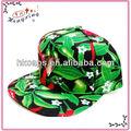 Casquillo del Snapback verde rojo fría pimientos de impresión exclusivos caliente para hombre gorra de béisbol