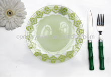 High quality clear glass salad plate