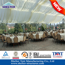 Beautiful luxury outdoor wedding tent decorating ( roof linings and curtains colorful fabric, transparent fabric optional