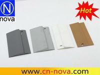 white plastic vinyle edge trim / carpet tile trim