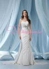 chiffon strapless sheath bridal gown 2013 wedding dresses davids bridal
