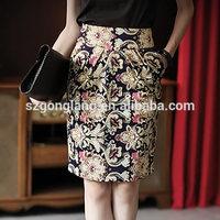 Korea Stylish Floral Vintage Retro Women Elegant Skirt