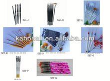 2013 Small orders wholesale fashion makeup brushes nail brush set professional nail brush pen