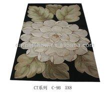home rug/flower pattern wool rug
