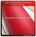 coche rojo de envoltura corporal de fibra de carbono cubierta de pvc de plástico de vinilo