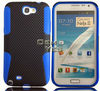 Hot Selling. PC + Silicone Reticulated Shell Cover Case For Samsung Galaxy Note 2 N7100