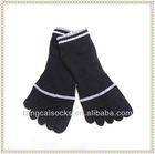 Wholesale high quality black 5 finger toe socks for children or women