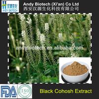 100% Good Quality Black Cohosh Extract 2.5% Triterpenoid Saponis
