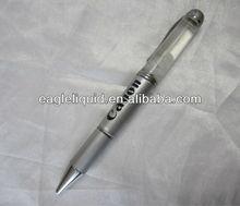promotion gift pen white balls beans floater inside custom logo custom liquid pens