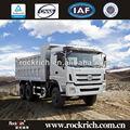 Célèbre 6x4/375hp engin cummins camion de transport de sable utilisé dans le marché au pérou