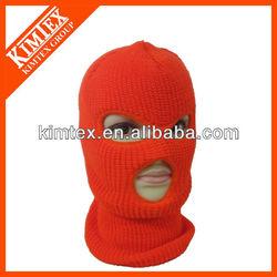 Acrylic knitted 3 holes balaclava