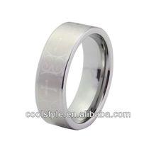 laser engraved tungsten carbide ring, pipe cut tungsten ring, new designs tungsten jewelry ring