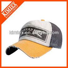 reminiscent printed logo denim golf hat baseball hats from china