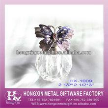 HX-1009 Shenzhen Powder Butterfly Crystal Perfume Bottle Favors