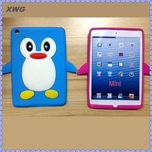 cute penguine silicone case for ipad mini