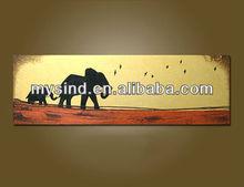 acrylic painting handmade on canvas Elephant
