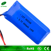 902248 3.7v 900mah li-ion battery for digital products