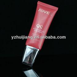 2oz bb cream plastic tube oval shape with acrylic cap