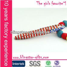 USA style rhinestone beaded stylus pen