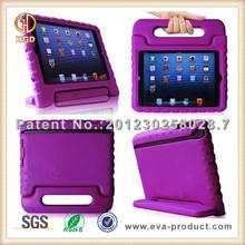 Kids safe stand handle shock absorbent EVA rubber case for ipad 3 4