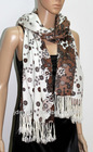 women casual one piece dress in floral print JDY-024# soft 100% acrylic scarf digital printed scarf