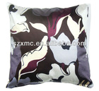 Houseware luxury embroidered printed flower cushion cover soft pillow case