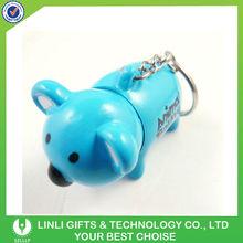 plastic telescopic bear pen keychain