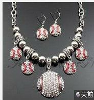D326 rhinestone baseball charm