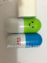smiley face message pen mini pill pen capsule ballpen