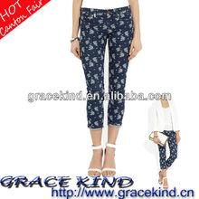 2014 Fashion Design Denim Print Woman Jeans Short(GK0510137)
