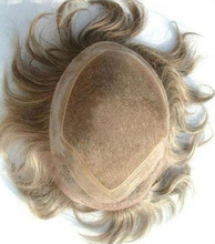 Custom human hair handmade hairpiece for man, toupee, hair system natural and undetectable