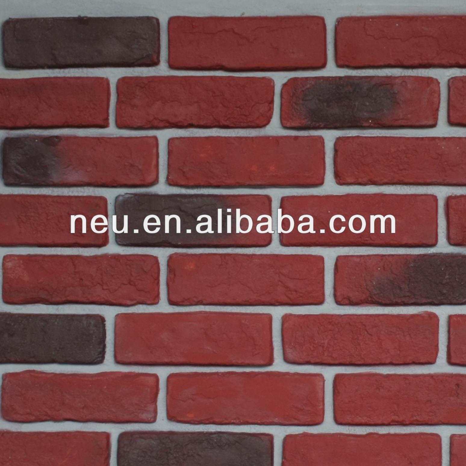 Brick wall pu wall panel archaized brick panel faux panel wall cladding view artificial brick - Red brick wall panel ...