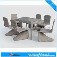 High quality garden furniture 6 seater rattan dining set (2072)