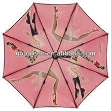 beautiful girl sex picture customize art design umbrella