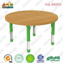 Cheap Durable Round Wood Grain Table 10 Kids Desk kindergarten Furniture