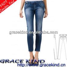 2014 Bangkok Garments Denim Boots Jeans Woman Skinny (GK0510152)