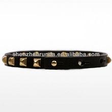 wholesale fashion leather bracelet men bracelet&bangles metal charms