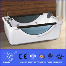 Indoor portable two side plastic bathtub with seat HS-B082X