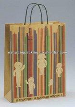 printed paper bag for super market usage